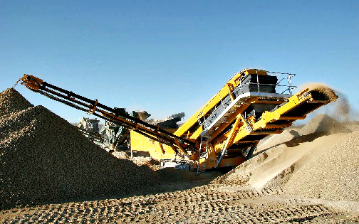 Unique Use of a Mobile Crushing Plant