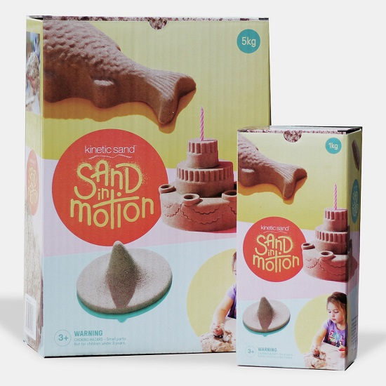 Sand in Motion Kinetic Sand