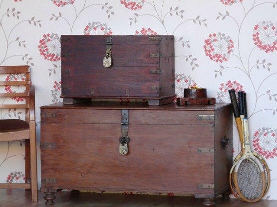 Wooden storage boxes