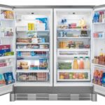 large capacity upright fridge freezer