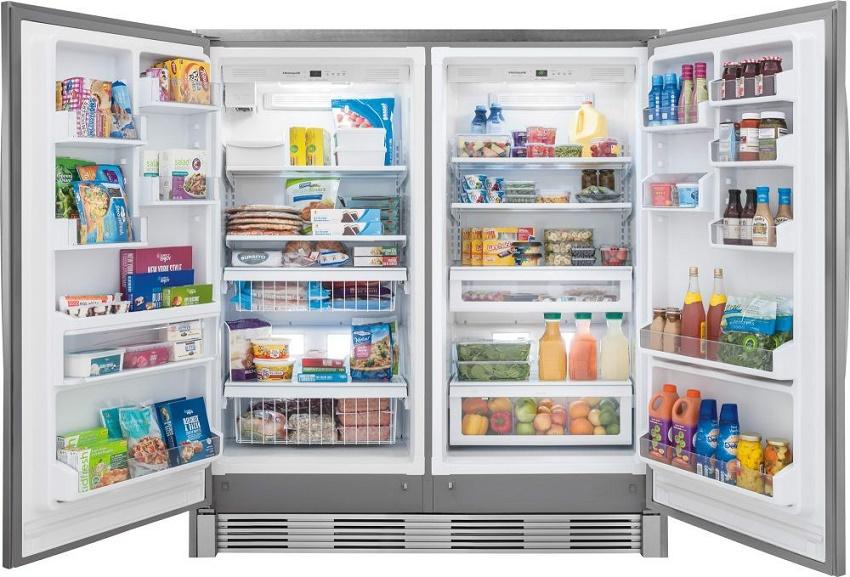 large capacity upright fridge freezer