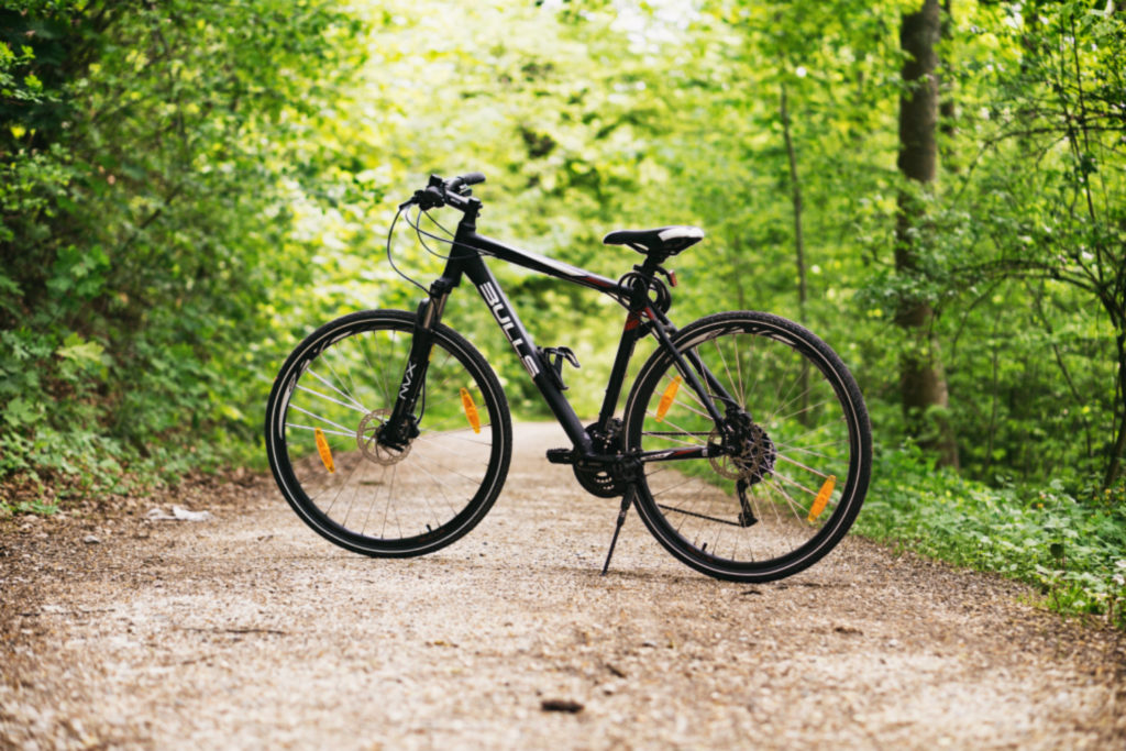 black-bike-into-the-woods