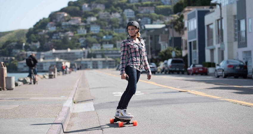 Girl with Boosted Board