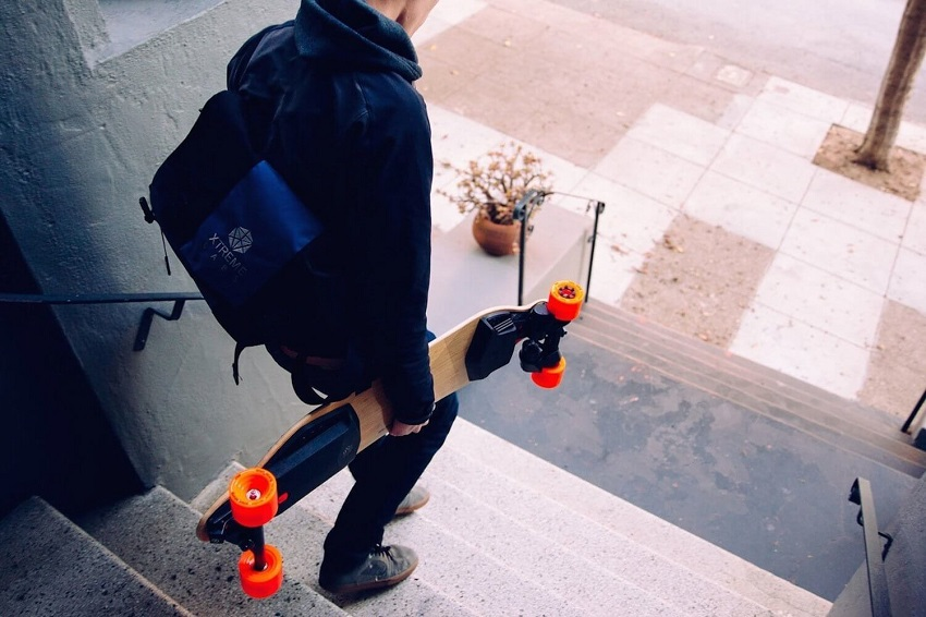 Guy with boosted board