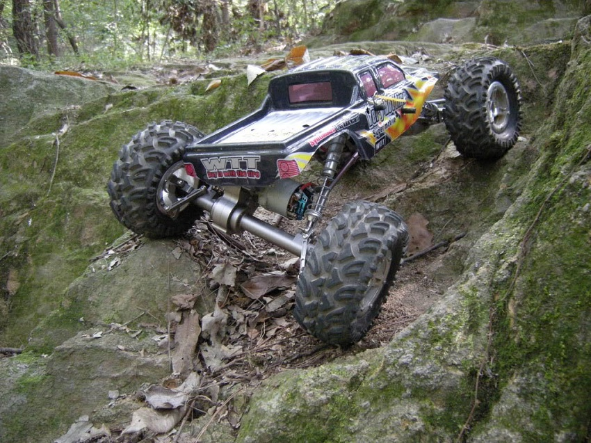 offroad rc vehicle on rocks