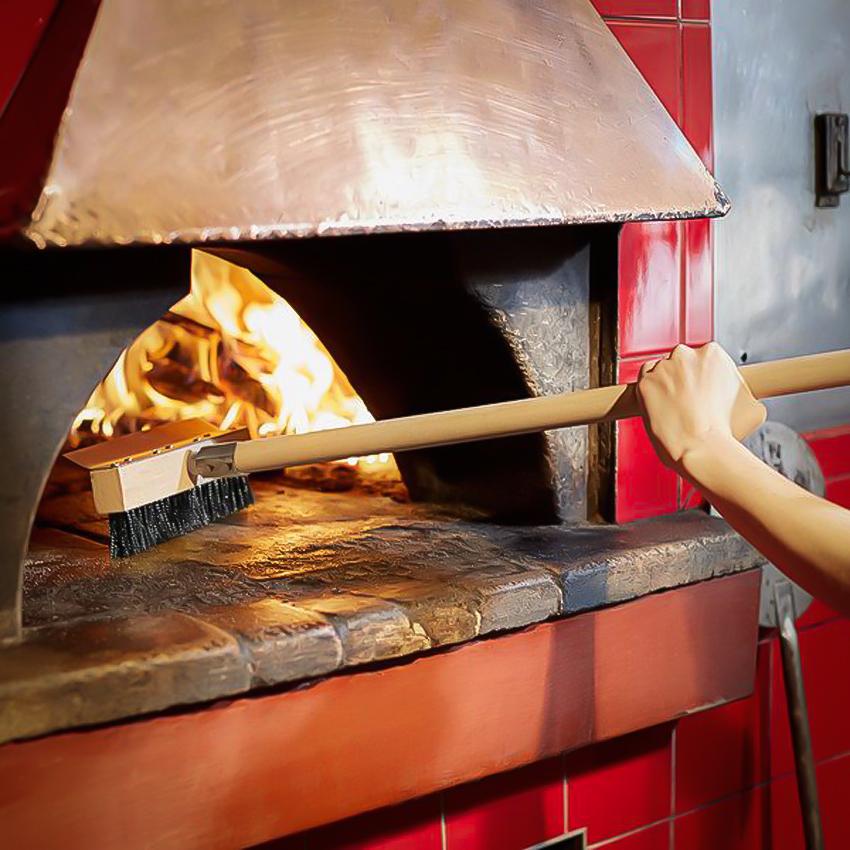 pizza oven brush long handle