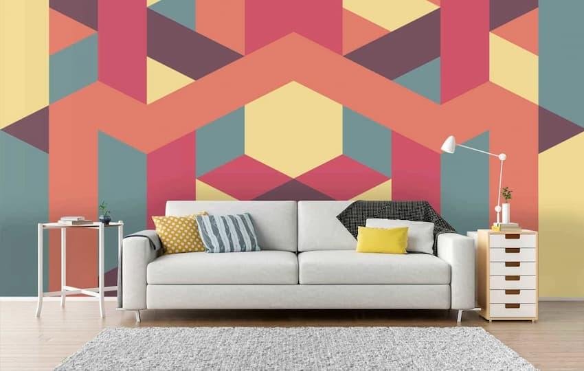 geometric shapes wall